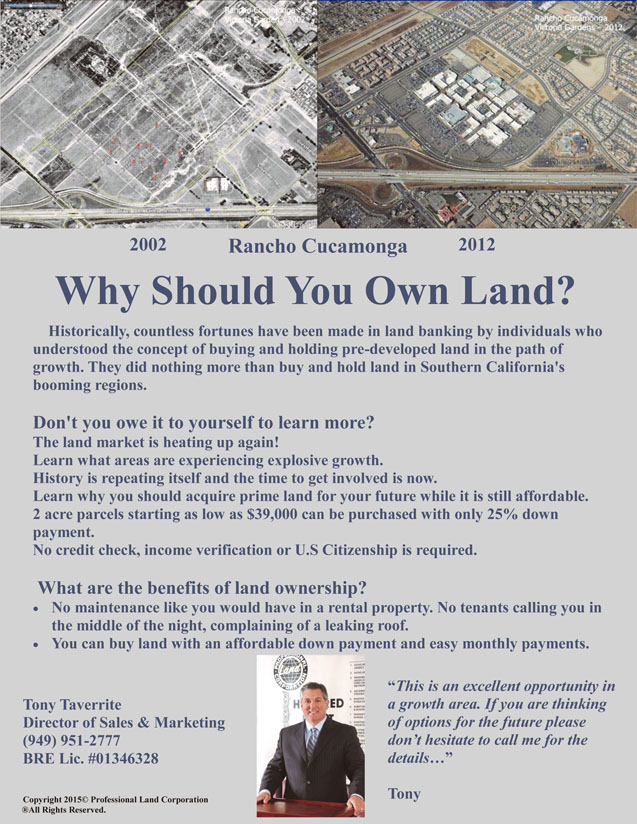 Why Should You Own Land