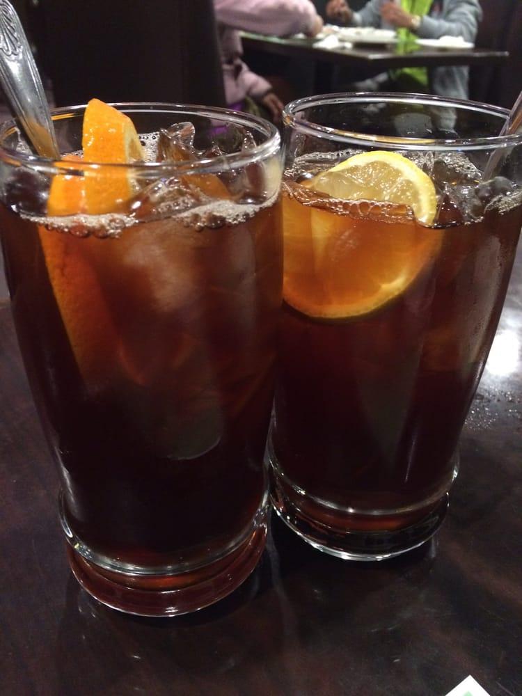 鮮橙冰茶和檸檬冰茶